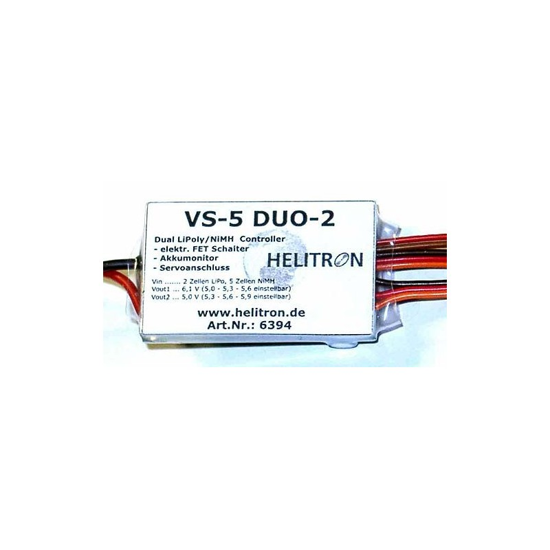 Helitron 6393 VS-5 DUO-3: Doppelter LiPoly Controller mit FET-Schalter