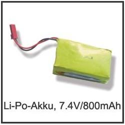 RC-3439 Li-Po Akku 7,4 V,...
